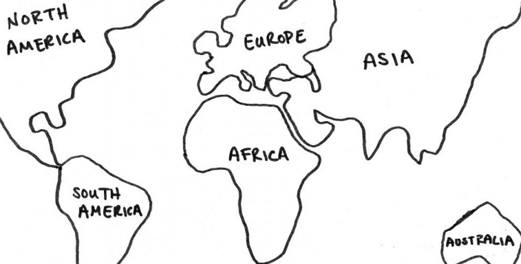 Tracing Continents Traveling The Outline Of The World - Continents outline